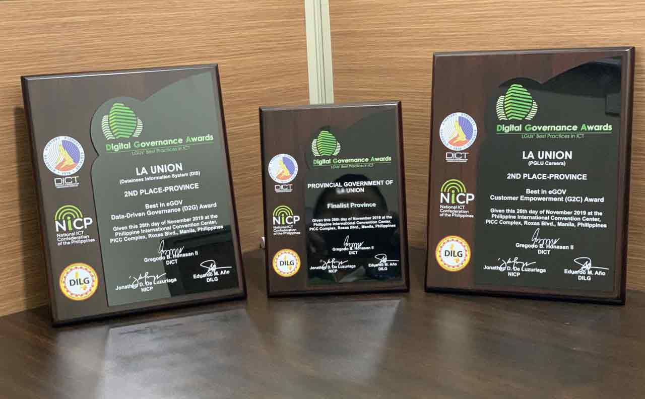 LA UNION PROVINCE RECEIVES MULTIPLE I.T. AWARDS